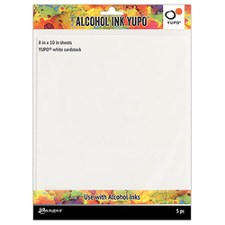 "Tim Holtz® Alcohol Ink Yupo® White Cardstock 8"" x 10"""