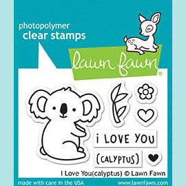 Lawn Fawn - I Love You (Calyptus) - Stamp