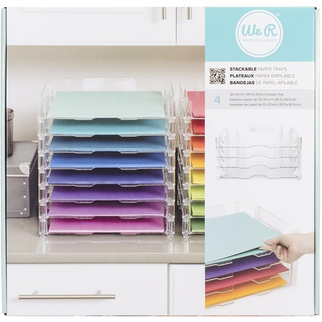We R Memory Keepers-Stackable Acrylic Paper Trays
