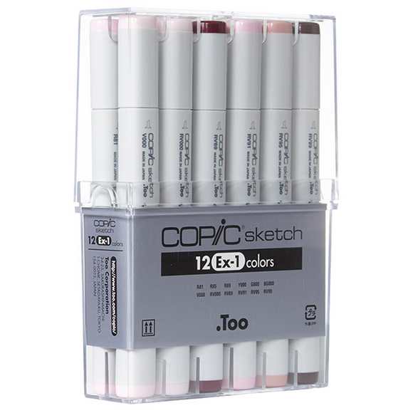 Copic Sketch Set 12 Ex-1