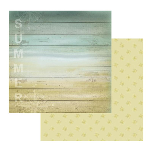 Couture Creations Sea Breeze Collection - Patterned Paper - Weatherboard