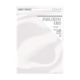 "Craft Perfect - Pearlescent Card - Pearl White - 8.5"" x 11"" (5/PK) - 9527e"