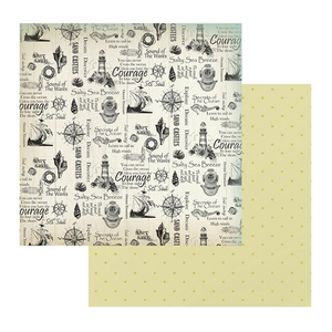Couture Creations Sea Breeze Collection - Patterned Paper - Silver Sands