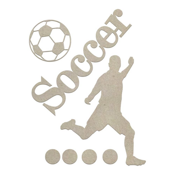 Couture Creations Chipboard - Soccer (7pc)