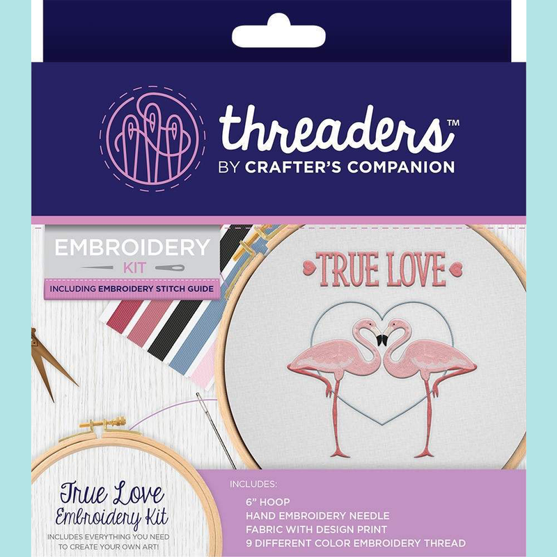 Crafters Companion Threaders Embroidery Kit - True Love