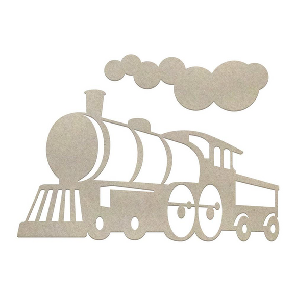 Couture Creations Chipboard - Boys - Locomotive Set (3pc) Chipboard
