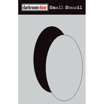 Darkroom door Small Stencil - Oval Set (NEW)
