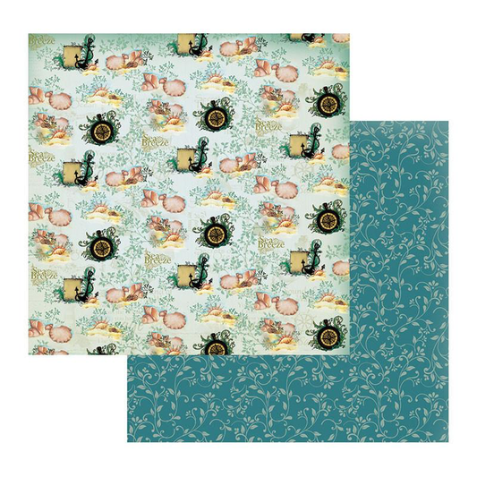 Couture Creations Sea Breeze Collection - Patterned Paper - Deep Seas & Whirling Winds