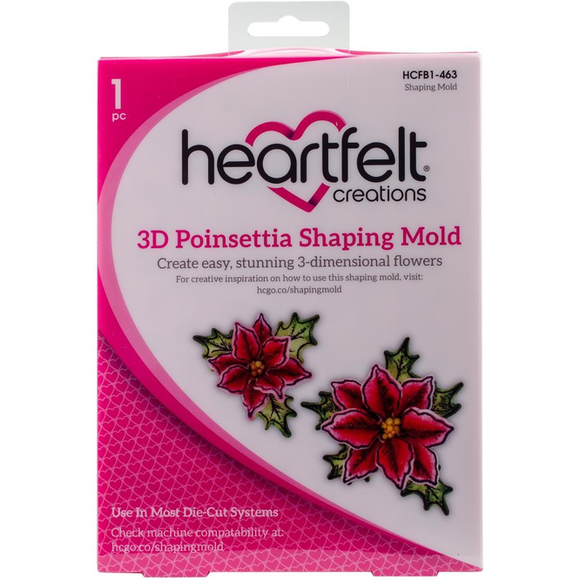 Heartfelt Creations - 3D Poinsettia Shaping Mold