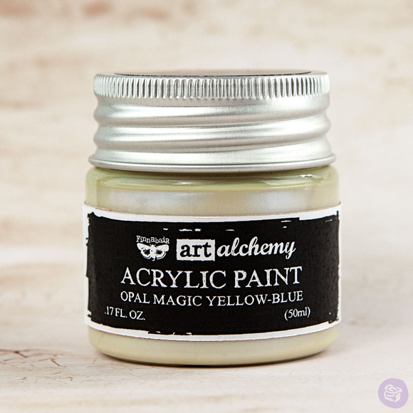 Finnabair Art Alchemy Acrylic Paints - Opal Magic - Yellow Blue