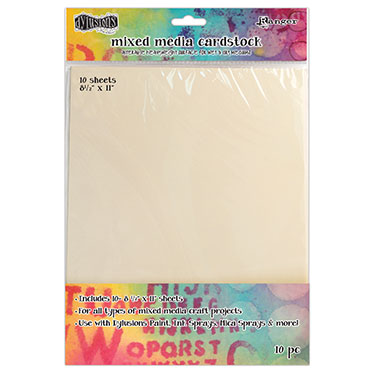 Ranger Dylusions Mixed Media Cardstock 8.5x11 (10 Pack)