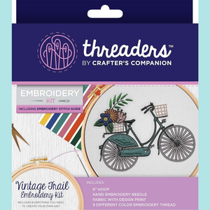 Crafters Companion Threaders Embroidery Kit - Vintage Trail