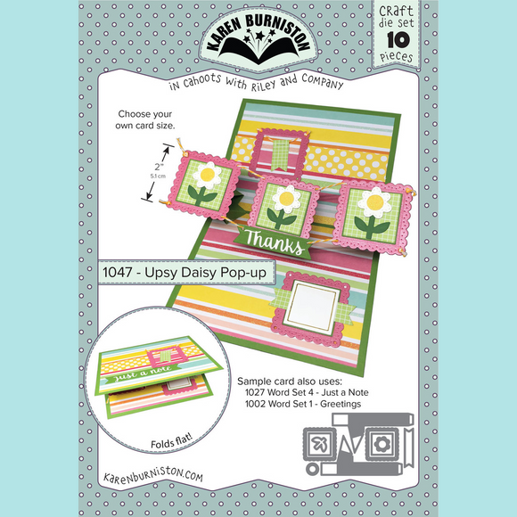 Karen Burniston - Upsy Daisy Pop-Up Die Set