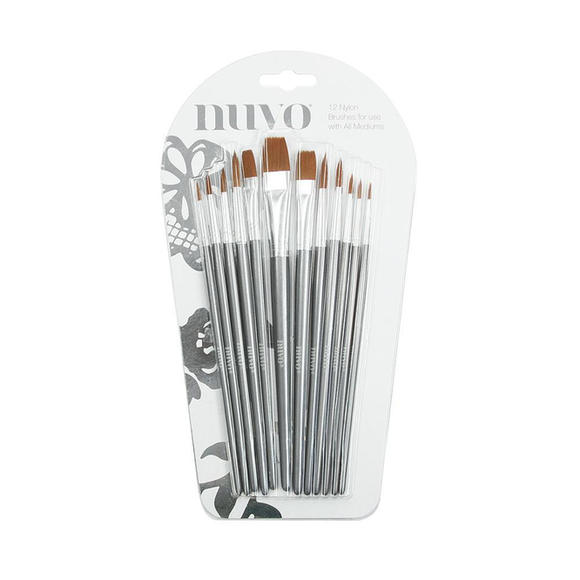 Nuvo - Brushes - Paint Brush Set - 12 pcs