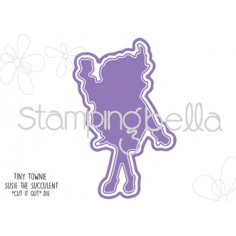 "Stamping Bella - TINY TOWNIE SUSIE THE SUCCULENT ""CUT IT OUT"" DIES"
