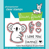 Lawn Fawn -  I Love You (Calyptus) -  Stamp and Die Sets