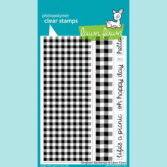 Lawn Fawn - Gingham Backdrops Stamp