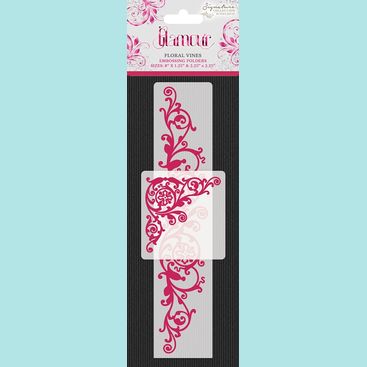 Crafter's Companion Sara Signature Collection Glamour Embossing Folders - Floral Vines