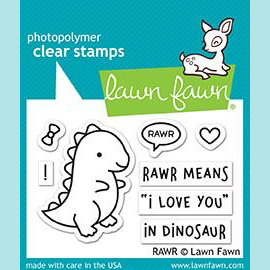 Lawn Fawn - RAWR - Stamp and Die
