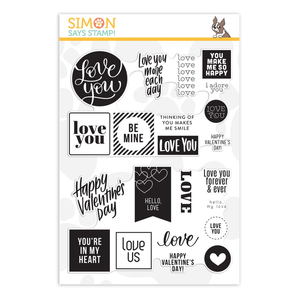 SIMON SAYS STAMPS Simon Says Clear Stamps LOVE AND VALENTINES WORD MIX 2 - Love You More