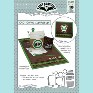 Karen Burniston - COFFEE CUP POP-UP Die Set