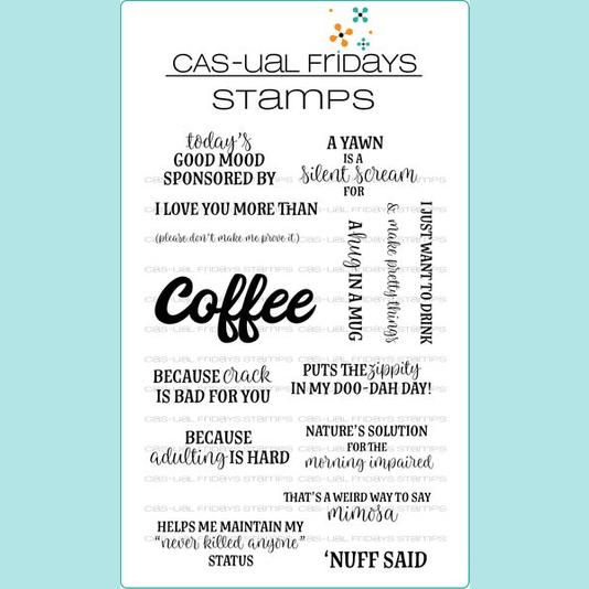 CAS-ual Fridays Stamps - Coffee Talk Stamp