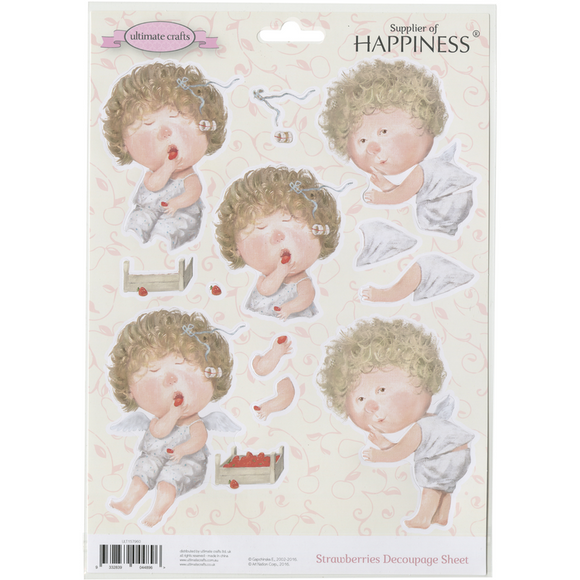 Gapchinska Supplier of Happiness Decoupage Sheet - Strawberries