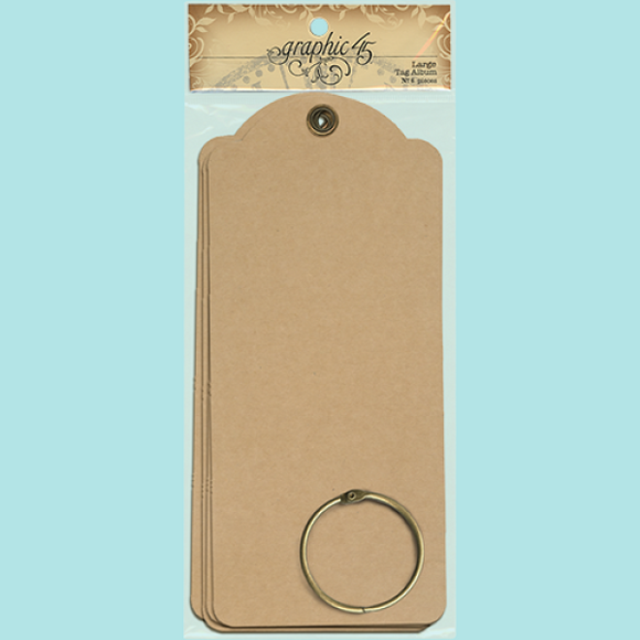 Graphic 45 - Large Tags - Kraft