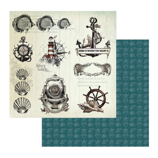 Couture Creations Sea Breeze Collection - Patterned Paper - Secrets of the Ocean