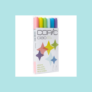 Copic Markers CIAO  - 6 Piece Sets - Brights