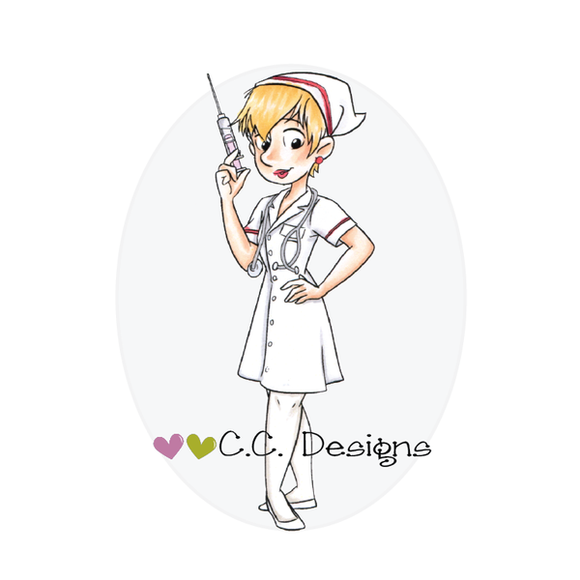 C.C. Designs - Roberto's Rascals Nurse Sue Stamp Set