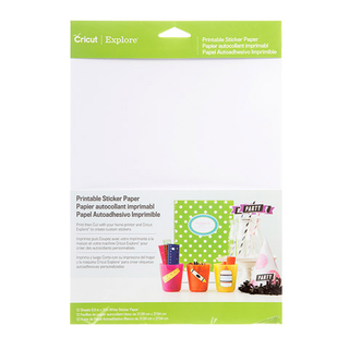 Cricut® Printable Sticker Paper - White - 8.5 x 11 - 12 Pack