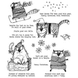 Tim Holtz Cling Mount Stamps: Snarky Cat Christmas