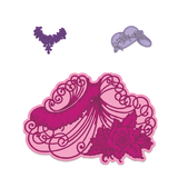 Heartfelt Creations Elements of Fashion Cling Stamp and Die Set