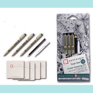 SAKURA ZENTANGLE TOOL SET A
