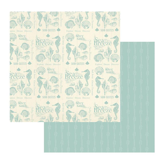 Couture Creations Sea Breeze Collection - Patterned Paper - Collecting Shells