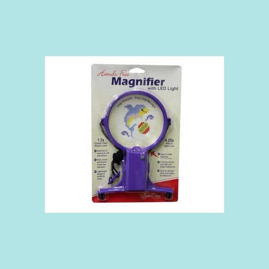 Gray Sew Easy Hands Free Magnifier with Light