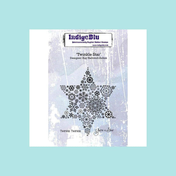 IndigoBlu Twinkle Star A6 Red Rubber Stamp by Kay Halliwell-Sutton