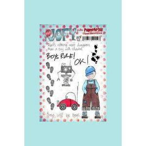 PaperArtsy Boys will be boys, JOFY Stamp Set 43, JOFY 43