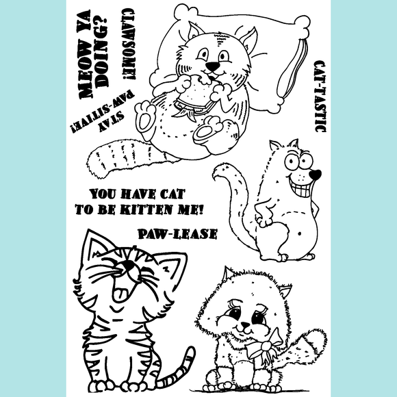 Joy Clair Just Kitten Around Stamp Set