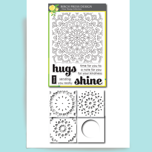 Birch Press Shining Mandala Stamp Set and Stencil Kit