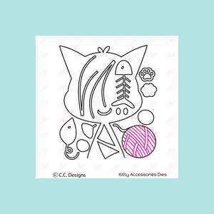 C.C. Designs Kitty Accessories Metal Die