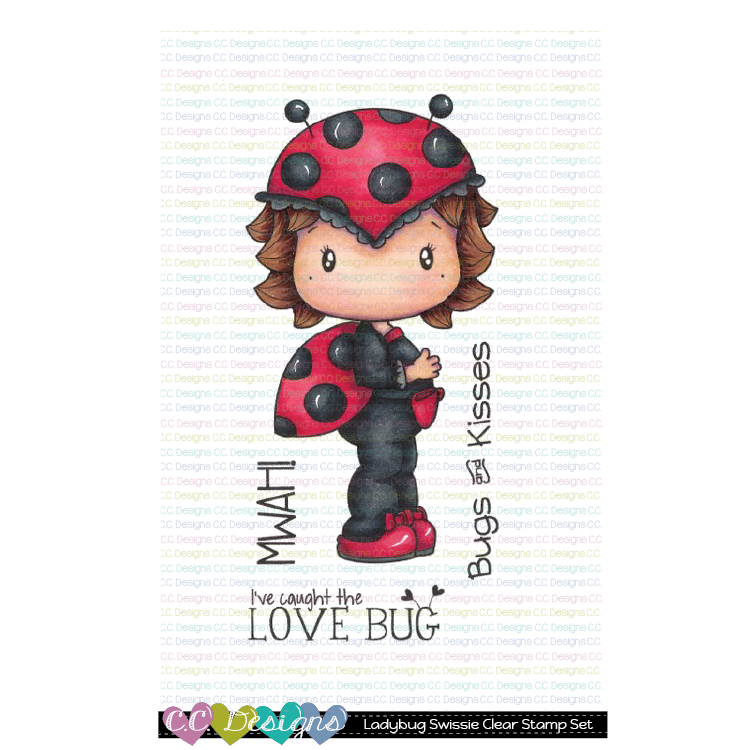 C.C. Designs - New Ladybug Swissie Clear Stamp Set