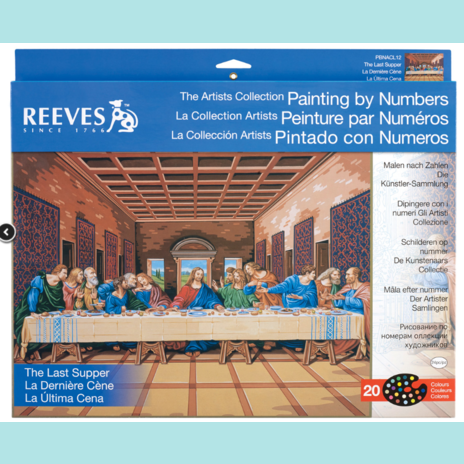 Reeves Artist Collection - Last Supper Painting By Numbers - Large
