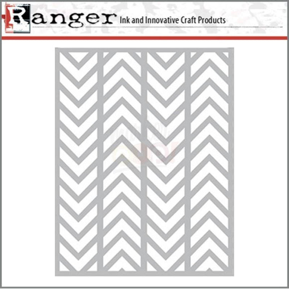 Ranger - Letter It Background Alternating Chevrons
