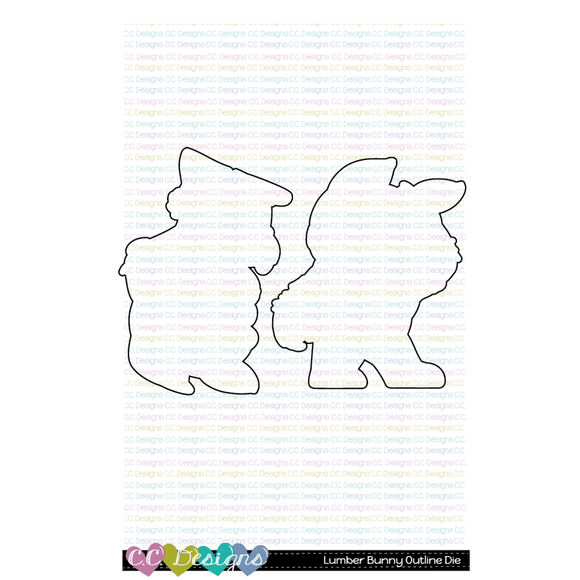 C.C. Designs - Lumber Bunny Outline Metal Die