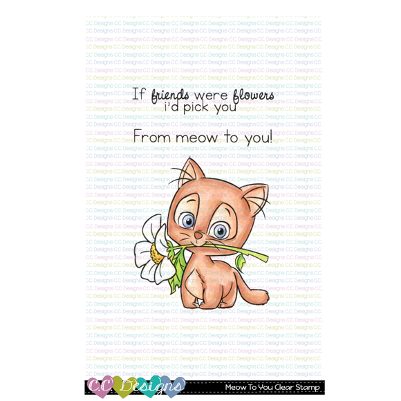 C.C. Designs - New Meow To You Stamp and Outline Die
