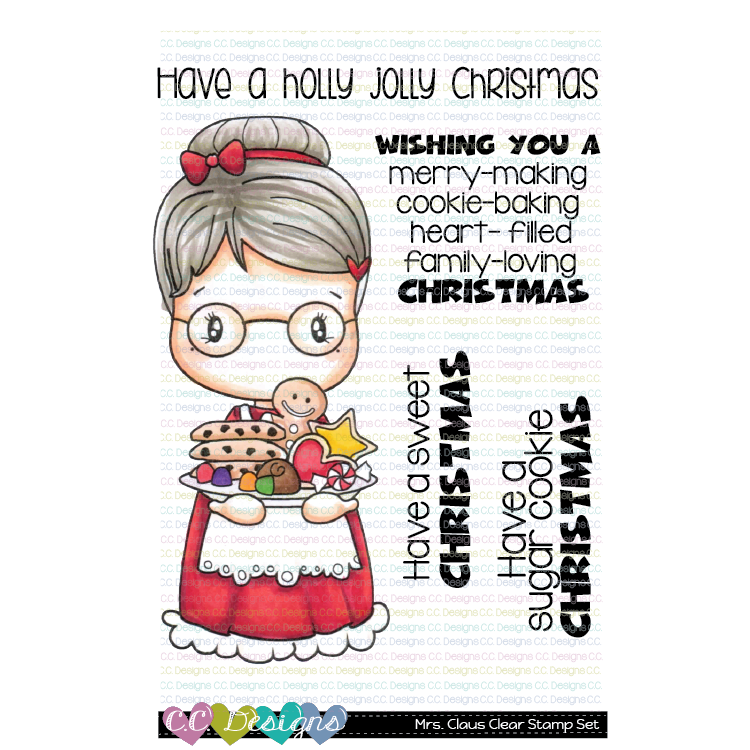 C.C. Designs - Mrs. Claus Swissie Clear Stamp Set