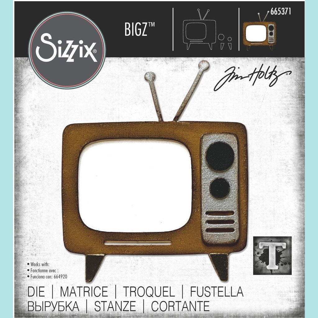 Sizzix Bigz Die - Retro TV by Tim Holtz