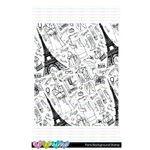 C.C. Designs - Paris Background Stamp